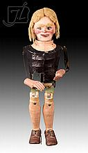 Early 20th C. American Ventriloquist Doll