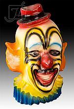Playland Chalkware Clown Bank