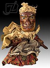 19th C. Wooden Punching Judy Doll