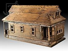 20th C. Wooden Doll House