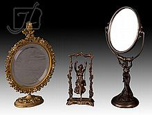 3 Pc. Vintage Figural Swing & Mirror Lot