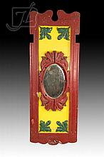20th C. Playland Painted Wood Panel Mirror