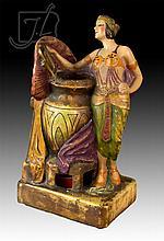 Martin Novelty Co. Figural Female Lamp