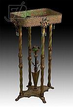 Art Nouveau Metal Lamp