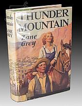 Signed 1st Edition Zane Grey Thunder Mountain Book