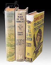 3 Pc. Signed 1st Edition Zane Grey Book Lot