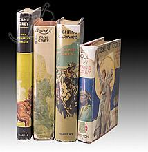 4 Pc. Signed 1st Edition Zane Grey Book Lot
