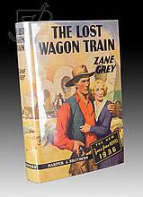 Signed 1st Edition Zane Grey The Lost Wagon Train
