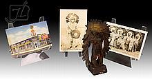4 Pc. Native American Tobacco Figure & Postcard Lot