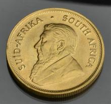 1975 Krugerrand, South African 1oz Gold Coin