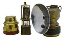 3 Pc. Miners Light, Lantern & Fuel Jar w/ Justrite