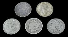 5 Circulated Morgan Silver Dollar Lot #2