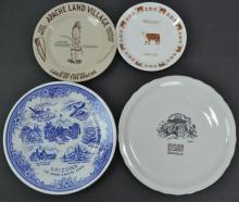 4 Pc. Arizona Vintage Restaurant Plate Lot