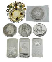 Franz II Coin, (7) .999 Fine Silver 1oz Medal Lot