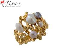 14K Yellow Gold Freshwater Pearl Ring