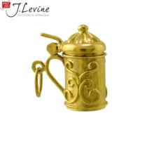 18K Yellow Gold Stein Charm