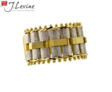 14K Yellow & White Gold Link Top Ring Band