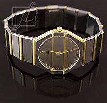 18K SS Baume & Mercier Acier Inox Men's Wristwatch Model 1830
