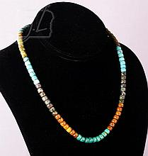 Sterling Silver Turquoise Trade Bead Necklace