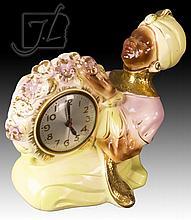 20th C. Sessions Black Americana Mantle Clock