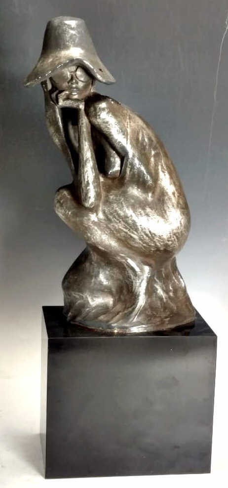 20th C. Sculpture Woman