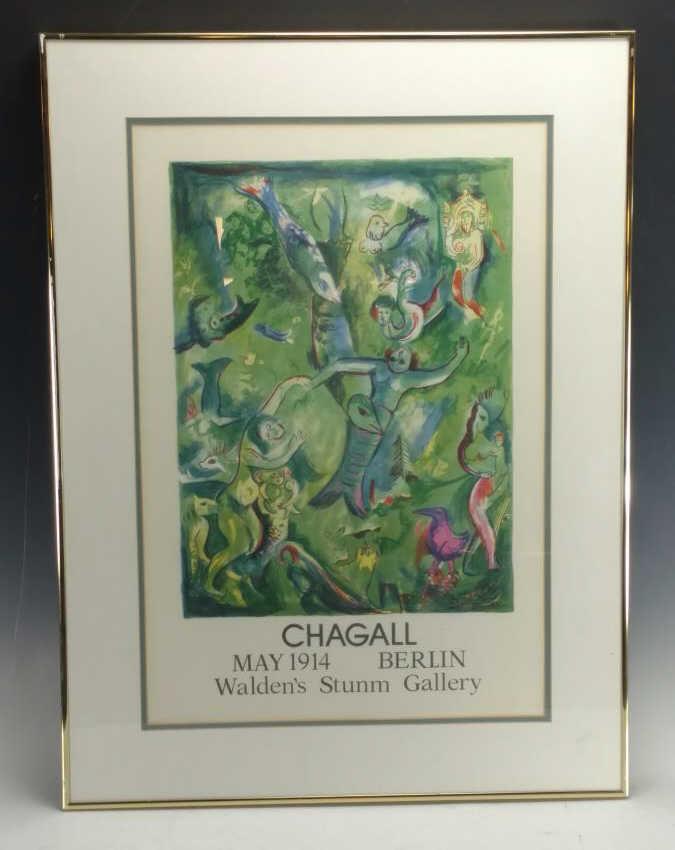 """Chagall"" Lithograph"
