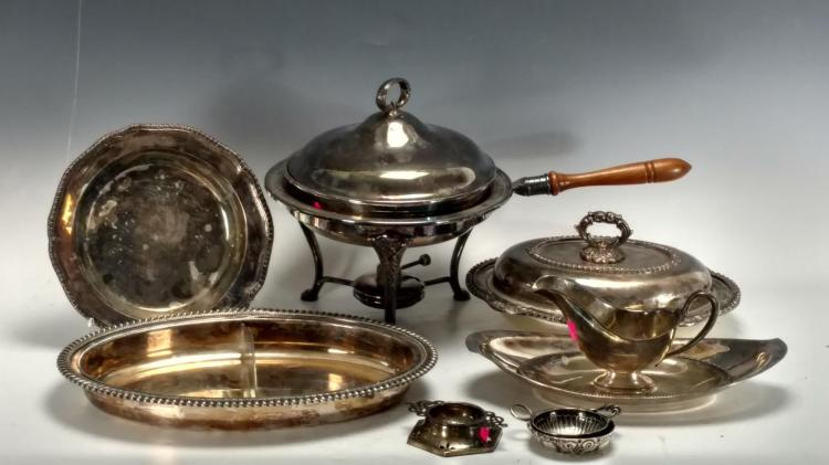 20th C. Fisher Silverplated Kitchen Lot