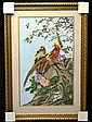 Framed Needlework: Birds & Flowers