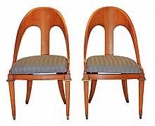 Bencks Designer Showroom Oak Side Chair Pair