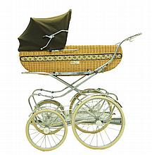 Vintage Perego Elite Covered Baby Carriage