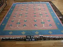 Vintage Indian Dhurrie Rug