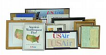 11 Pc. U.S. Airlines Ephemera w/ Advertisements