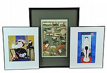 3 Pc. Japanese Etching & Print Lot