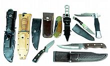 8 Pc Knife: 6 Fixed Blade, 2 Folding