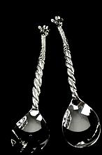 Sterling Silver Giraffe Salad Server Set
