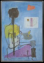Guillermo Wiedemann (1905-1969) Oil Painting