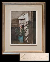 Andrew N. Wyeth (1917-2009) BIRD IN THE HOUSE Lithograph