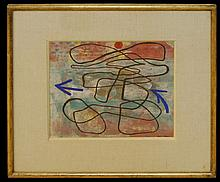 Otto Nebel (1892-1973) Gouache Abstract Painting