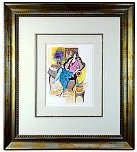 Itzchak Tarkay (1935-2012) Original Watercolor Painting
