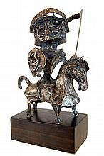 Ken Kuemmerlein (20th Century) Don Quixote Sterling Silver Sculpture