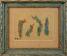 Lyonel Feininger (1871-1956) Untitled (Ghosties)