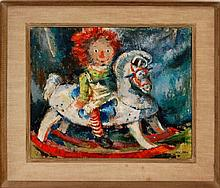 Ben Abril (1923-1995) Rocking Horse Painting