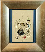 Joan Miro (1893-1983) Untitled, Watercolor & Ink