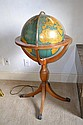 Vintage Light Up Floor Globe