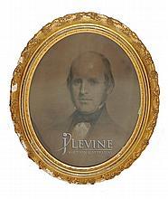 Framed Charcoal Drawing, Gentleman's Portrait