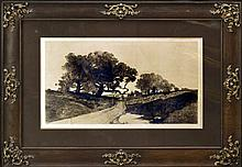 1901 Drypoint Etching, Published by James Tyroler