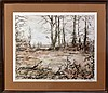 Signed Mike Schofield (ne 1947) Litho, Fall Covey