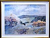 Pencil Signed Framed Landscape Mountain Print