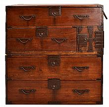 #2 Asian Stacking Tansu Chests  w/ Drawers