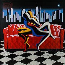 Mark Kostabi (1960-) Lithograph Ltd Ed